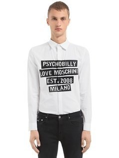 PSYCHOBILLY PRINTED STRETCH POPLIN SHIRT