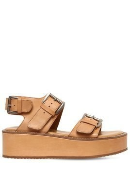 50MM LEATHER PLATFORM SANDALS