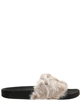 20MM SHEARLING SLIDE SANDALS
