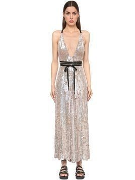 SEQUINS VISCOSE JUMPSUIT
