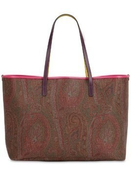 PAISLEY COATED COTTON TOTE BAG W/POUCH