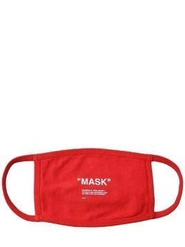 """MASK"" PRINTED COTTON MASK"