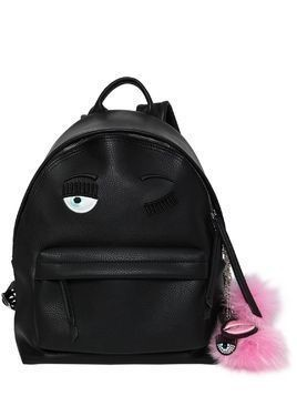 FLIRTING EYE FAUX LEATHER BACKPACK