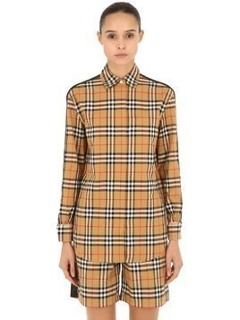 SAOIRSE CHECK SHIRT W/ SIDE BANDS