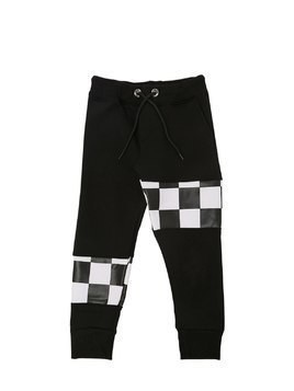 CHECKERED COTTON SWEATPANTS
