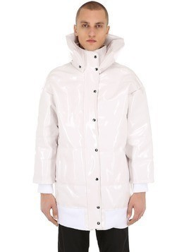 FORTRESS OVERSIZED VINYL PUFFER JACKET