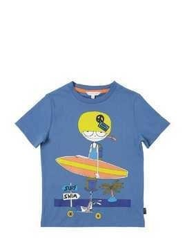 SURF PRINTED COTTON JERSEY T-SHIRT