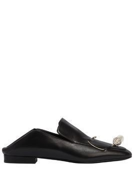 10MM DAVIDE JEWELED PIN LEATHER LOAFERS