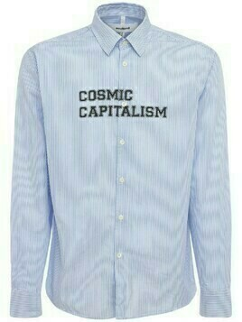 Cosmic Capitalism Striped Cotton Shirt