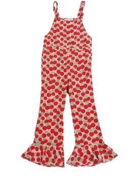 CHERRY PRINTED VISCOSE JUMPSUIT
