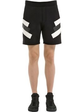 NEOPRENE INTARSIA ECO LEATHER SHORTS