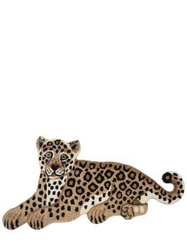 LEOPARD WOOL & COTTON RUG