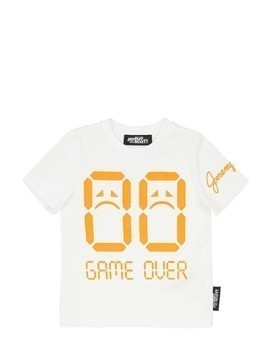 GAME OVER PRINTED COTTON JERSEY T-SHIRT