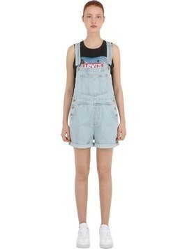 SHORTALL VINTAGE COTTON DENIM OVERALLS