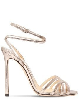 100MM MIMI METALLIC LEATHER SANDALS