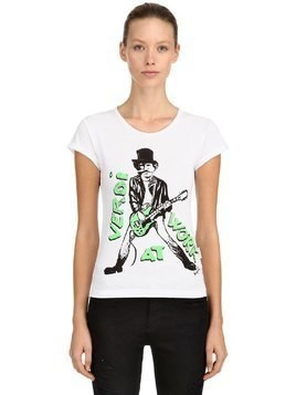 VERDI PRINTED COTTON T-SHIRT