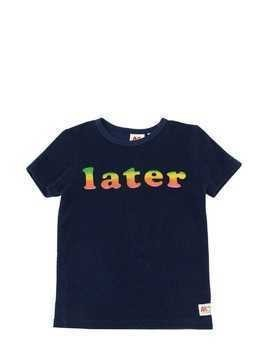 PRINTED COTTON TERRY T-SHIRT
