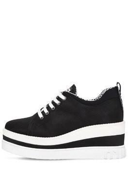75MM COTTON WEDGE SNEAKERS