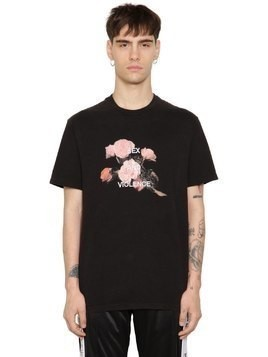 SEX&VIOLENCE COTTON JERSEY T-SHIRT