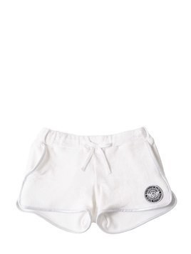 TERRYCLOTH SHORTS W/ LOGO PATCH