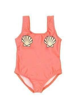 SHELL PRINT LYCRA ONE PIECE SWIMSUIT