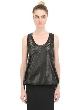 LASERED LEATHER TOP