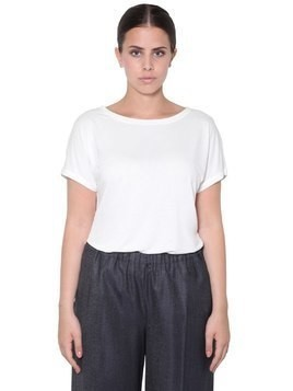 SHORT SLEEVE VISCOSE TOP