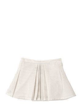 PERFORATED FAUX LEATHER MINI SKIRT