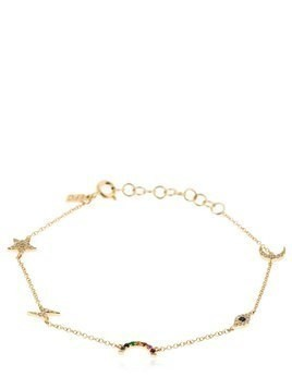 COSMIC DIAMOND 14KT GOLD CHARM BRACELET