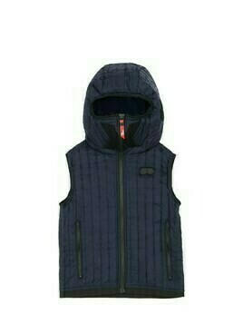Hooded Nylon Puffer Vest W/ Lenses