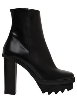 120MM FAUX LEATHER ANKLE BOOTS