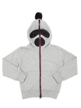 ZIP-UP COTTON SWEATSHIRT HOODIE