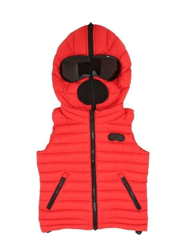 HOODED NYLON DOWN VEST