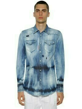 Western Bleached Cotton Denim Shirt