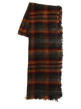 CLAUS VISCOSE BLEND PLAID SCARF