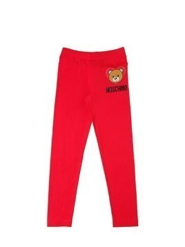 HEART BEAR COTTON INTERLOCK LEGGINGS