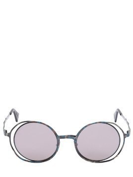 DOUBLE ROUND FRAME METAL SUNGLASSES