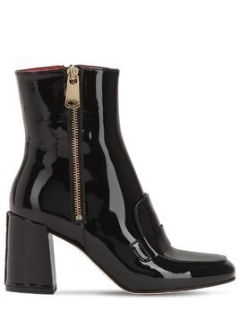 75MM XO PATENT LEATHER BOOTS