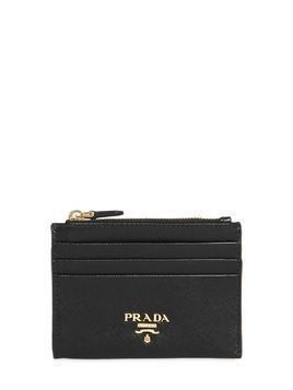 SAFFIANO LEATHER ZIP CARD HOLDER