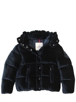 CAILLE VELVET & NYLON DOWN JACKET