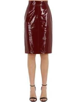 SILK & VINYL PENCIL SKIRT