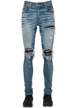 15CM MX1 LEATHER PATCH DENIM JEANS
