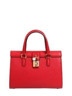 DOLCE LADY GRAINED LEATHER BAG