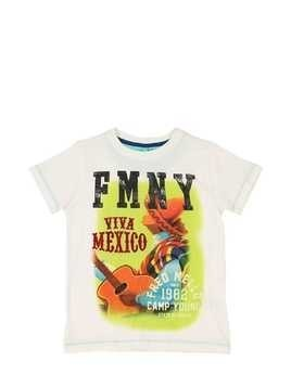 MEXICO PRINT COTTON JERSEY T-SHIRT
