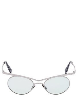 BRIDGE EMBELLISHED ROUND SUNGLASSES