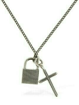 Padlock & Cross Pendant Chain Necklace