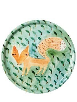 FOX IN THE LEAVES PRINTED TRAY