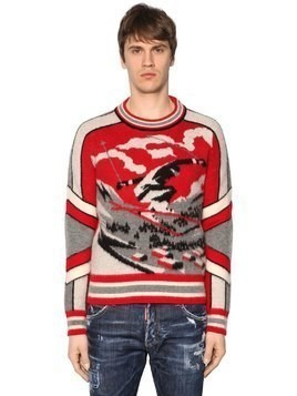 SKI JACQUARD WOOL KNIT SWEATER