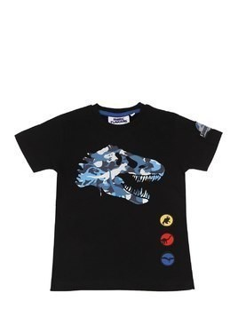 CAMO T-REX PRINT COTTON T-SHIRT