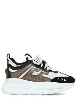 CHAIN REACTION LOGO MESH SNEAKERS